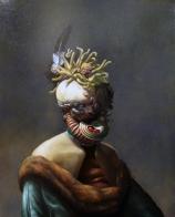 "Christian Rex van Minnen. Manfungus 1.5. 2008. Oil Canvas. 30"" x 24"""