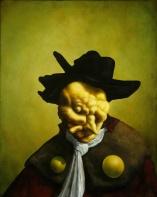 "Christian Rex van Minnen. Abstract Figurative 2.5. 2007. Oil Canvas. 22"" x 28"""
